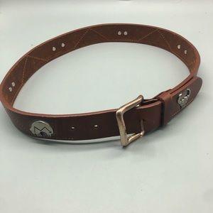 Vintage genuine leather southwestern belt